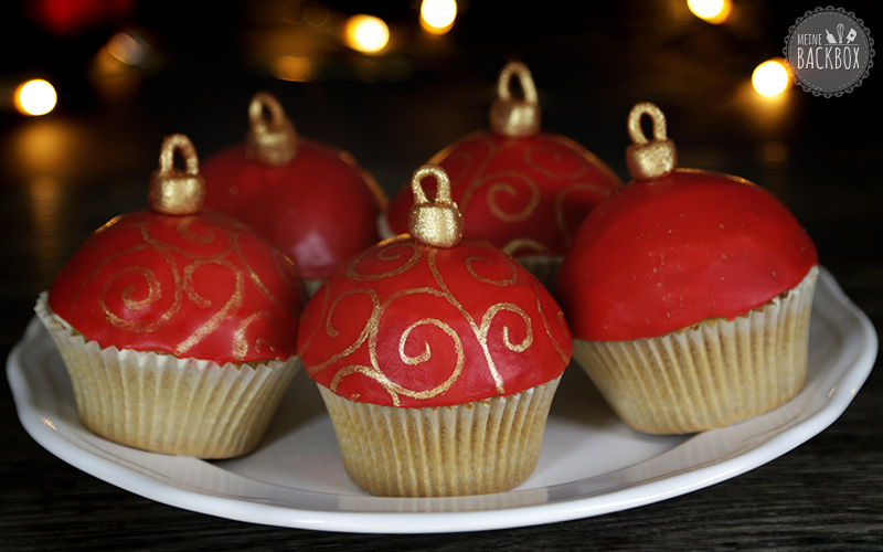 Christbaumkugel Cupcakes Rezept Weihnachtsbox