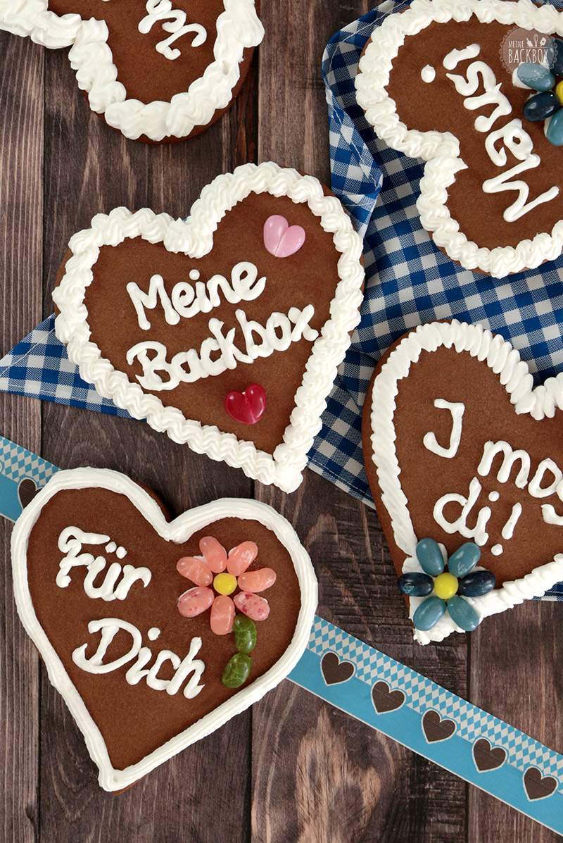 Lebkuchenherzen September Box Meine Backbox