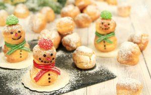 Windbeutel Schneemänner Weihnachtsbox
