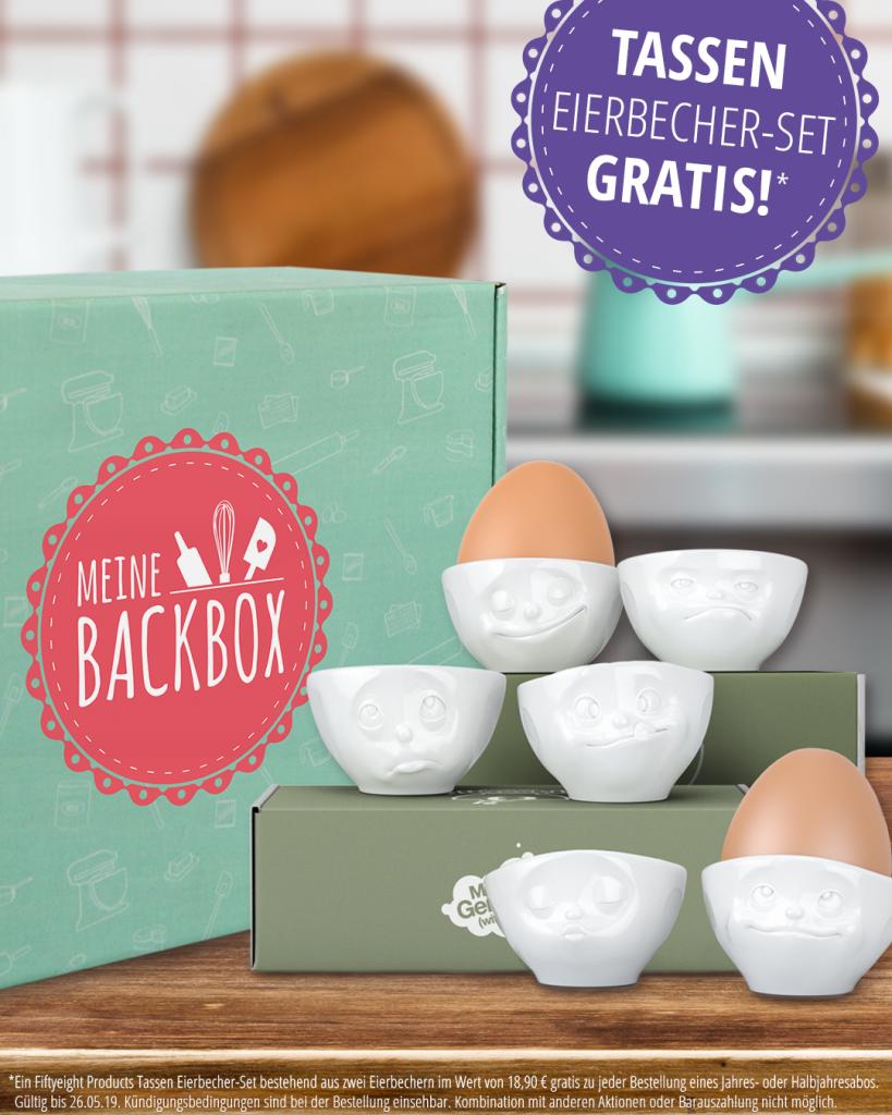 Tassen Eierbecher gratis zu Meine Backbox