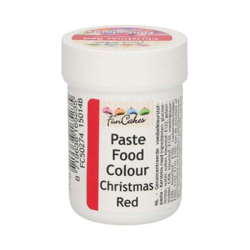 FunCakes Farbpaste Christmas Red