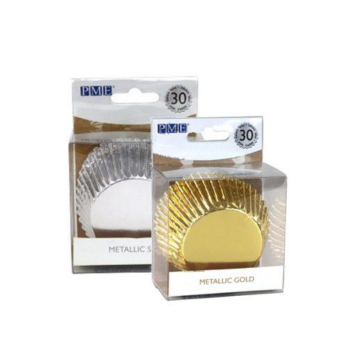 PME Cupcake-Formchen Gold & Silber