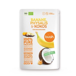 Buah Banane, Physalis & Kokos