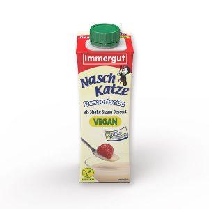 Immergut Naschkatze vegane Vanillesoße