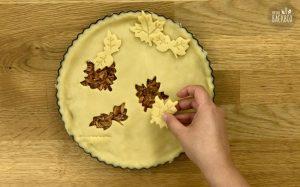 Barbeque Jackfruit Pie Rezept: Pie-Decke auflegen