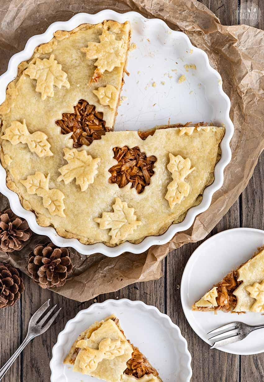 Herbstliches Barbeque Jackfruit Pie Rezept