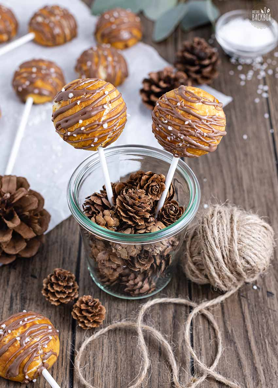 Laugenbrezel Pops Rezept mit Schokolade und Salz
