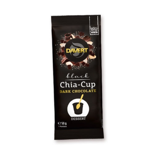 Davert Black Chia-Cup Dark Chocolate