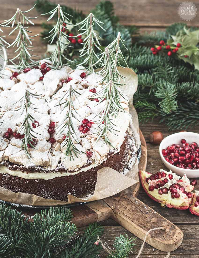 Schneegestöber Torte mit Baiser