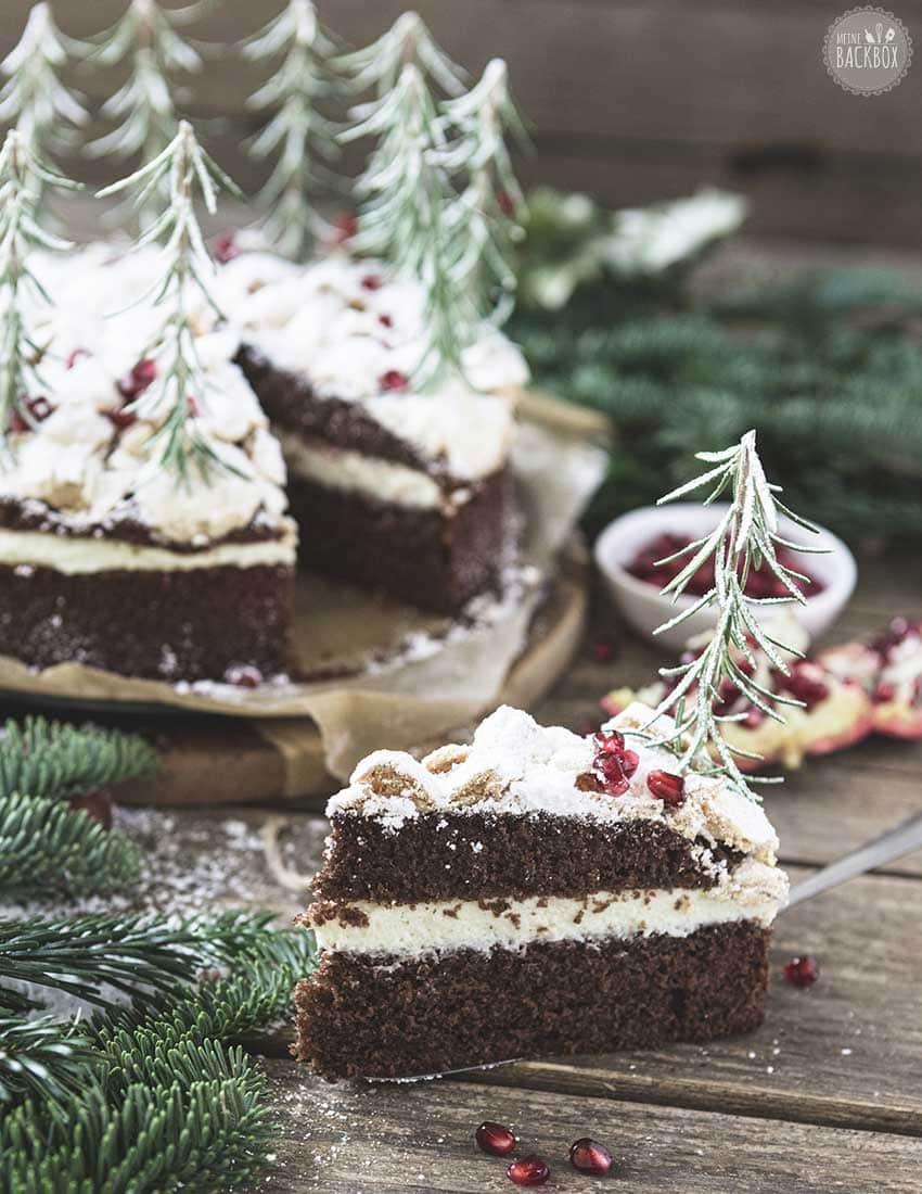 Schneegestöber Torte mit Vanille Mousse