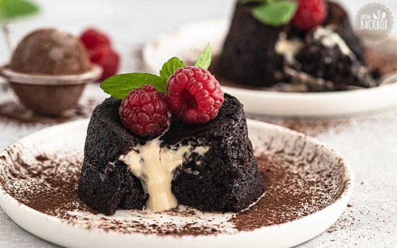 Glutenfreie Lava Cakes mit Mandelcreme