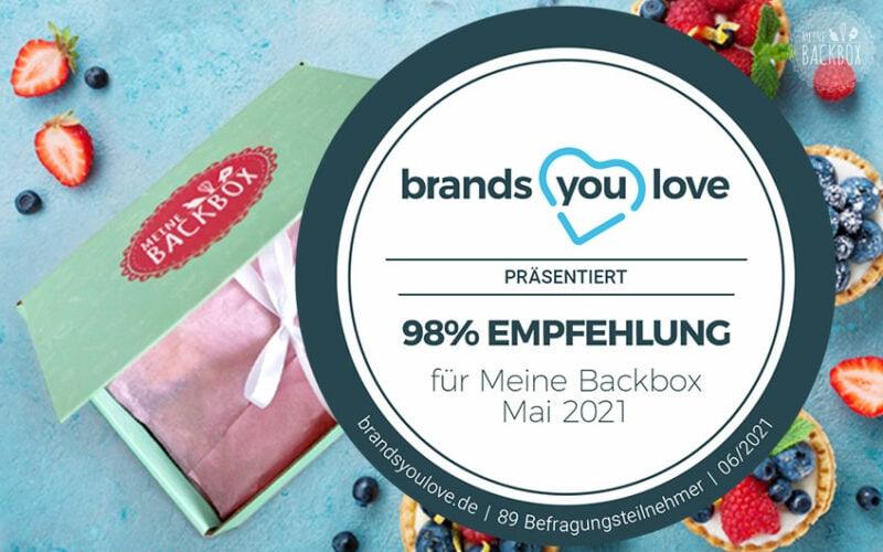 Brands you love Test Meine Backbox: 98 % Weiterempfehlung