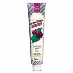 Marmetube Premium Fruchtaufstrich Brombeere-Minze