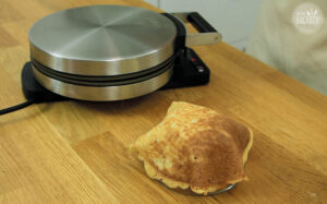 Lemon Cheesecake Eiscreme: Eiswaffel formen