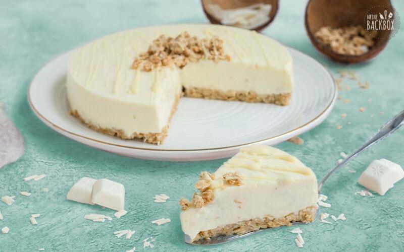 No Bake Cheesecake mit Kokos & Weißer Schokolade