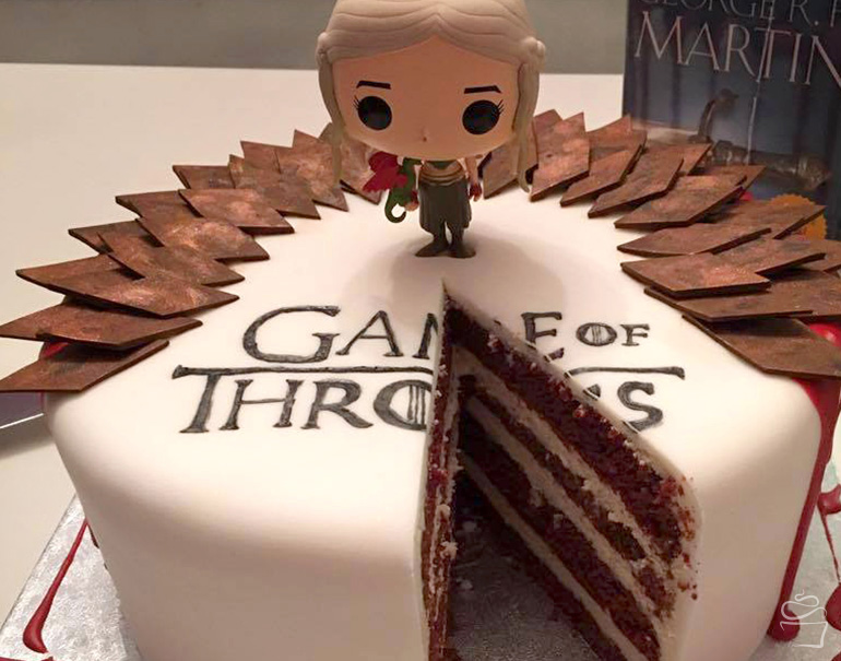 Game of Thrones Red Velvet Cake