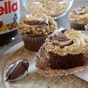 Haselnuss Nutella Karamell Cupcakes Glutenfrei