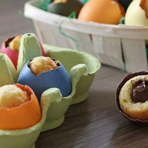 Kuchen in Ostereiern