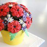 Mohnblumen Strauss Cupcakes Torte