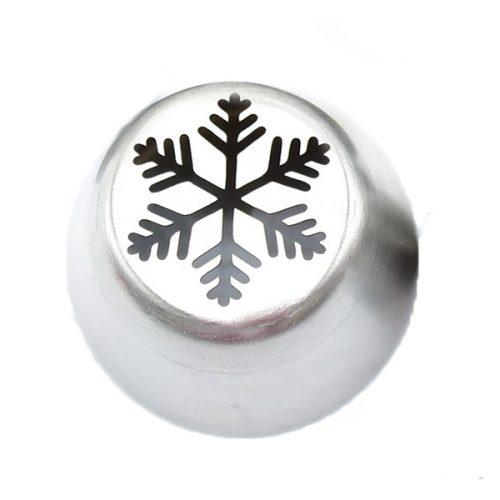 Russische Spritztülle Schneeflocke