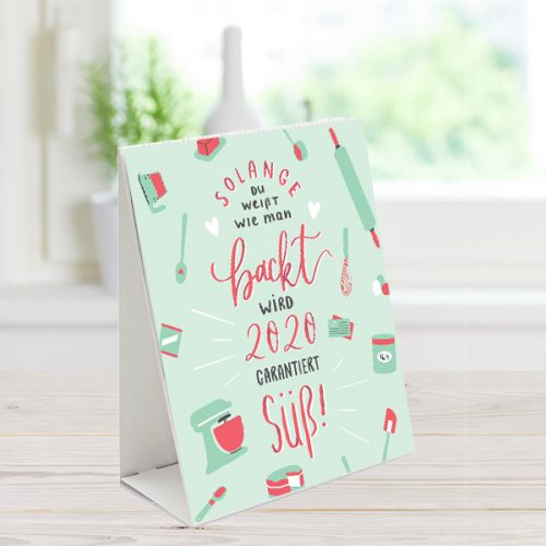 Meine Backbox Tischkalender 2020 mit Sprüchen