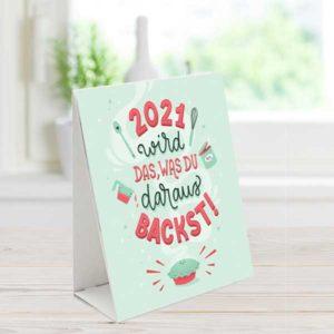 Meine Backbox Tischkalender 2021 mit Rezepten und lustigen Sprüchen rund ums Backen