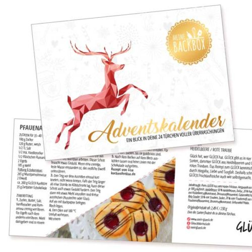 Meine Backbox Adventskalender Rezept Booklet