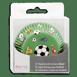 Städter Papier-Backförmchen Fußball