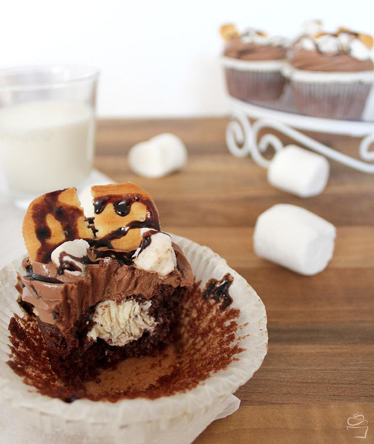 S'mores Cupcakes Marshmallow Schokolade