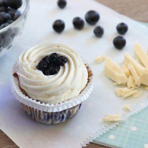 White Blueberry Cupcakes