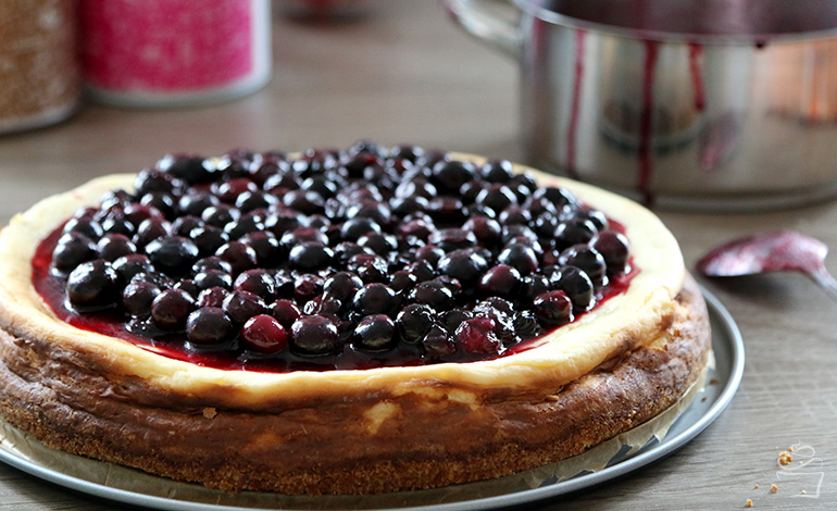 White Chocolate Cheesecake Blueberry