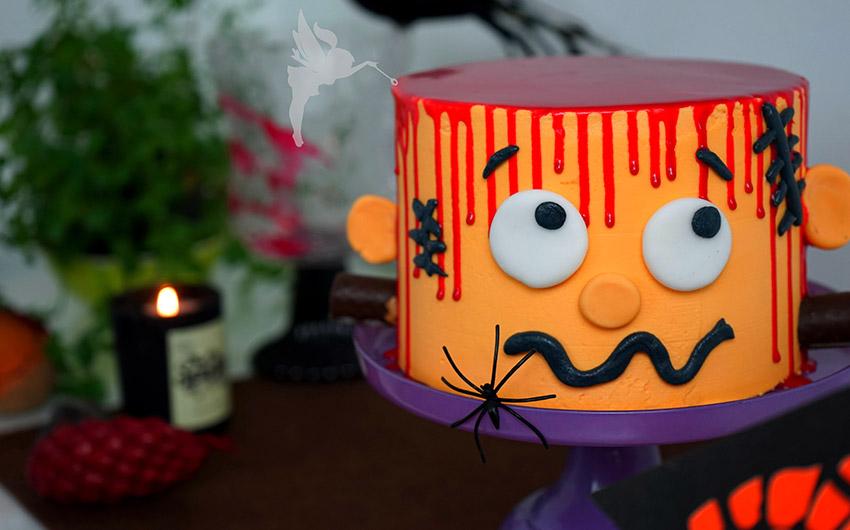 Beste Halloween Rezepte Frankenstein Torte von Kuchenfee Lisa