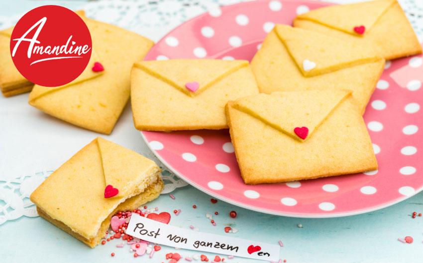 Beste Valentinstags Rezepte: Liebesbrief Kekse von Amandine