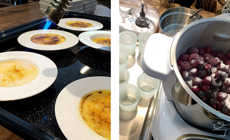 Creme brulee Kirschsorbet Prep&Cook