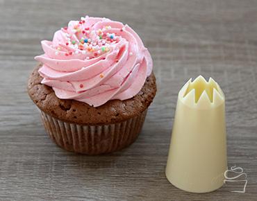 Cupcake Spritztechniken Spritztülle Stern