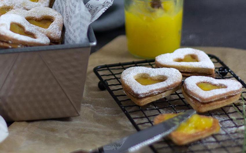 Lemon Curd Herzkekse zum Muttertag von Kleid und Kuchen