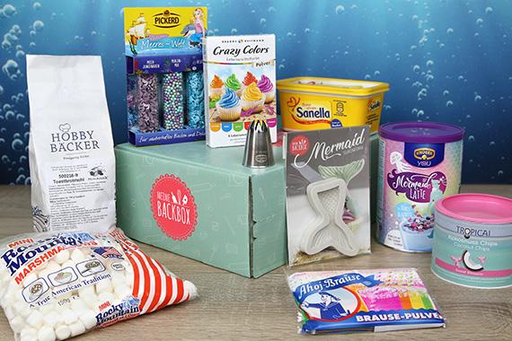 Meine Backbox Inhalt Juli Box Meerjungfrau Unterwasserwelt