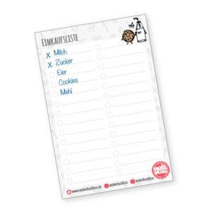 Meine Backbox Notizblock Einkaufsliste